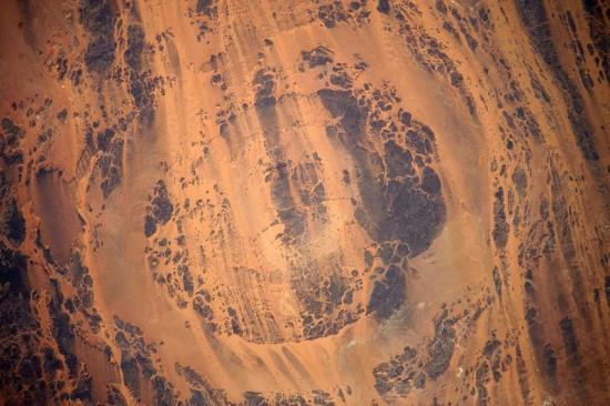 Krater Aorounga (Czad, Afryka).