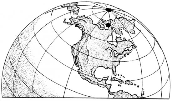 Południowy biegun magnetyczny.