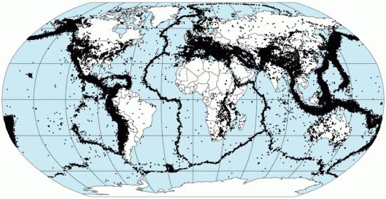 Trzęsienia ziemi w latach 1963-1998.