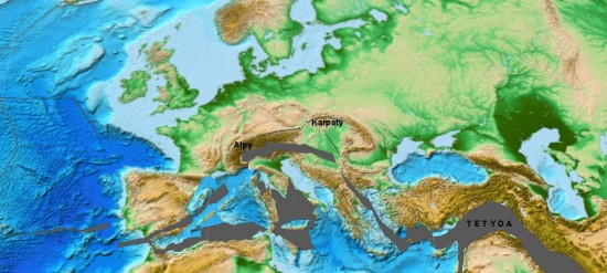 Miocen - lang - paleogeografia Europy.