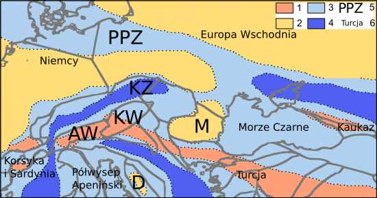 Eocen - paleogeografia.