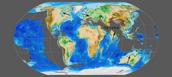Świat w eocenie.