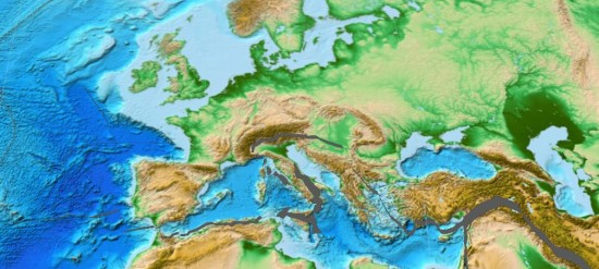 Pliocen - paleogeografia.