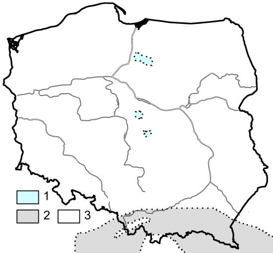 Paleogeografia Polski - późny paleocen.