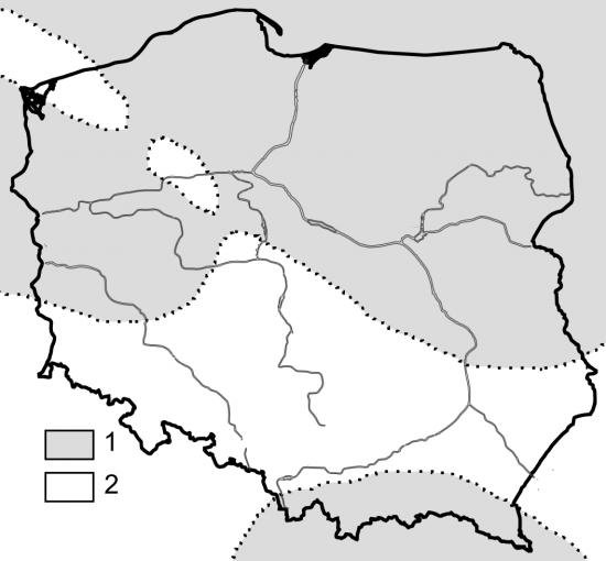 Polska - środkowy eocen (paleogeografia).