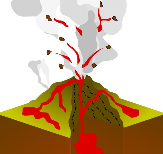 Wulkan typu Stromboli.