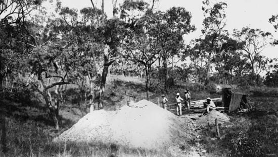 Wydobycie złota: Australia 1869.