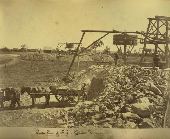 Wydobycie złota w Australii ok. 1878 roku.