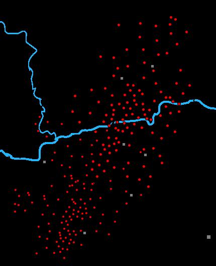Elipsa spadku meteorytu Pułtusk.