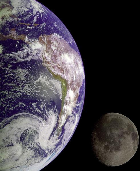 Ziemia i Księżyc.