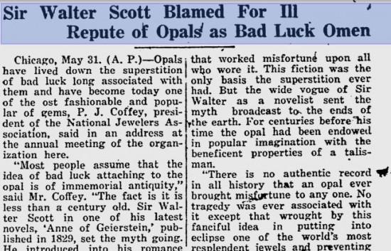 Fragment artykułu zamieszczonego w Lawrence Journal World 6 czerwca 1923 roku.