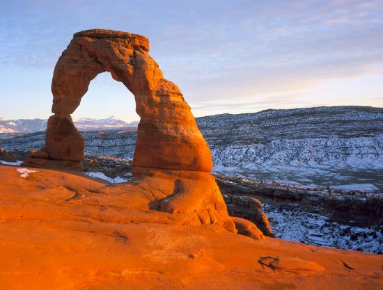 Delicate Arch w Parku Narodowym Arches.