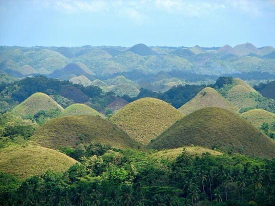 Czekoladowe Wzgórza na wyspie Bohol.