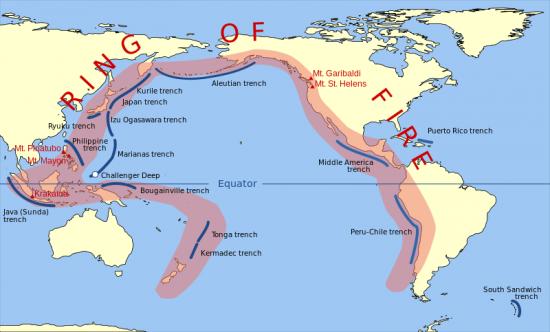 Pacyficzny pierścień ognia - dobre i złe strony wulkanizmu.