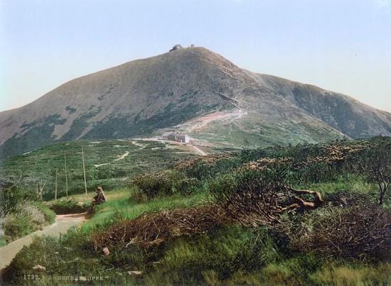 Widok na Śnieżkę około 1900 roku.