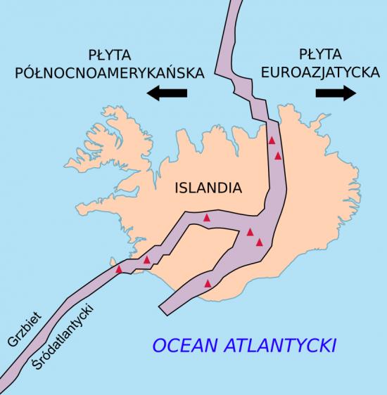 Islandia i grzbiet śródoceaniczny.