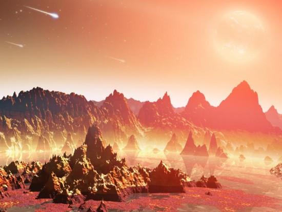 Artystyczna wizja młodej planety.
