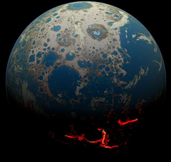 Ziemia 4 mld lat temu.