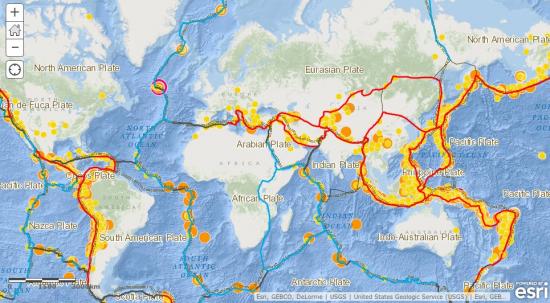 Trzęsienia ziemi i granice płyt litosfery.