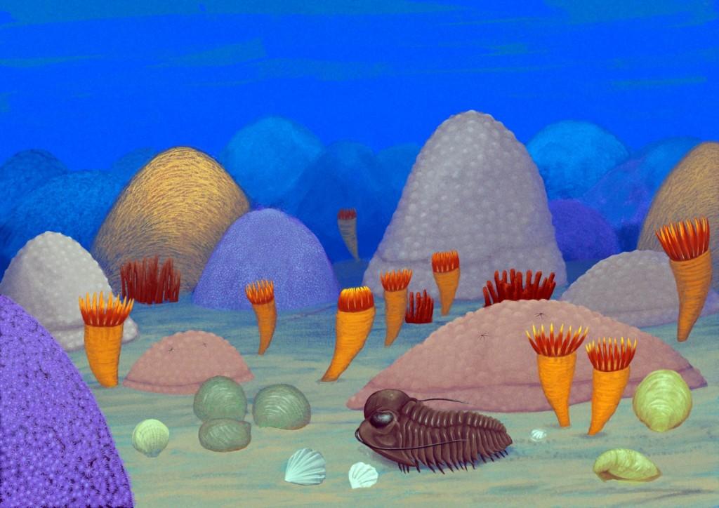 Europa w sylurze, 420 mln lat temu: płytkie morze na terenie Skandynawii.