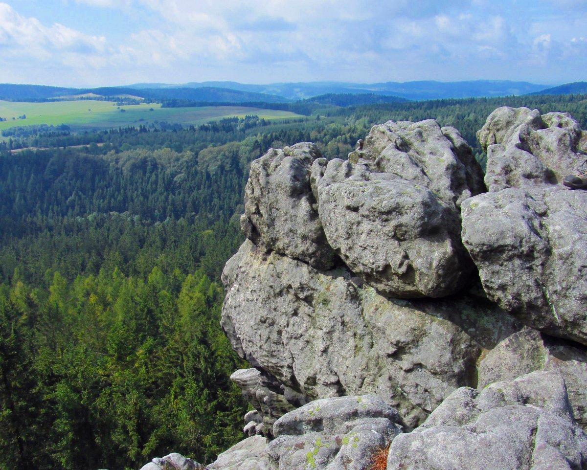 Narożnik w Górach Stołowych (Dolny Śląsk, Sudety).