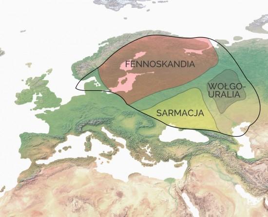 Platforma wschodnioeuropejska w proterozoiku.