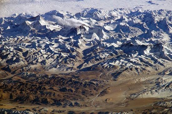 Himalaje z powietrza.