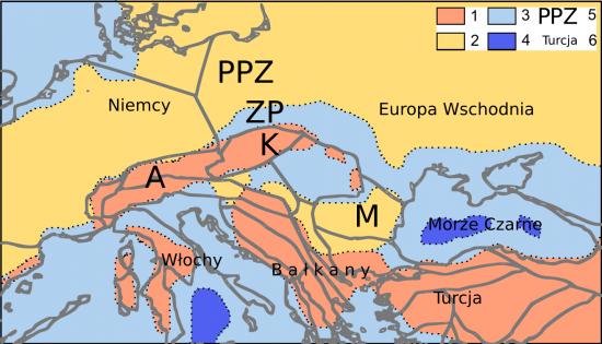 Miocen - lang - paleogeografia.