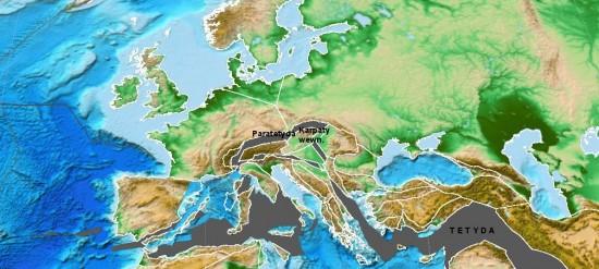 Miocen - akwitan - paleogeografia Europy.