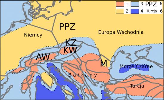 Miocen - akwitan - paleogeografia.