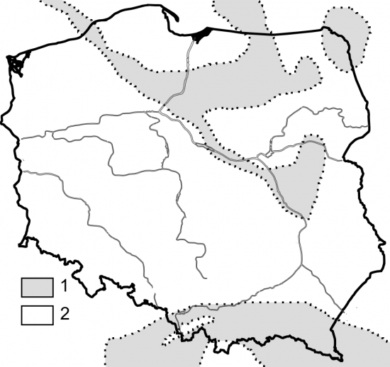 Paleogeografia: Polska w paleocenie.