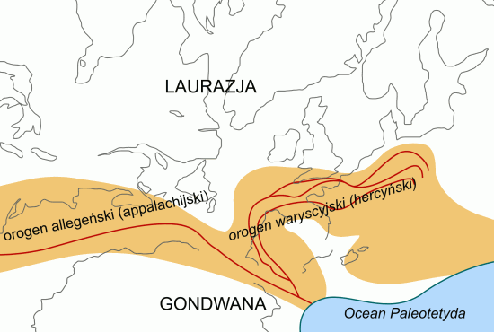 Orogeneza hercyńska (waryscyjska).