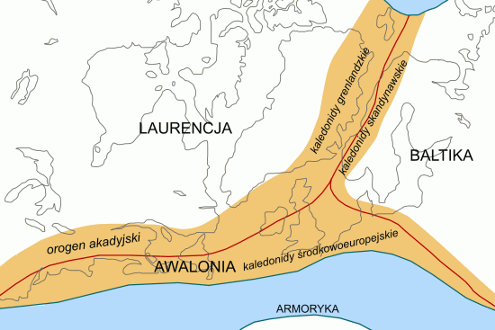 Orogeneza kaledońska.