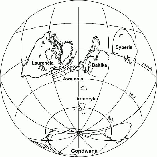 Ziemia w późnym ordowiku.