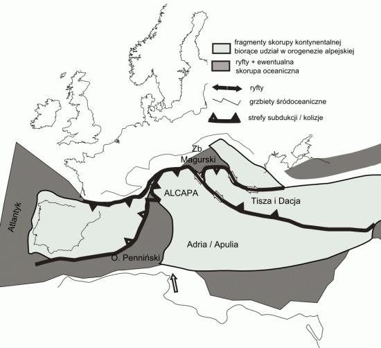Dzisiejsza południowa Europa w paleogenie (eocen).