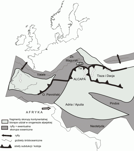 Dzisiejsza południowa Europa na przełomie wczesnej i późnej kredy (turon).