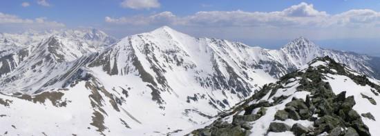 Tatry: panorama ze Starorobociańskiego Wierchu.