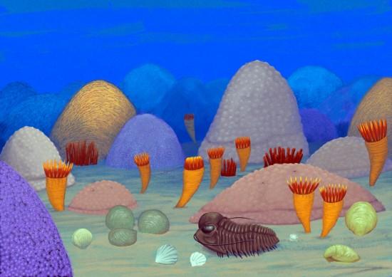 Europa w sylurze, 420 mln lat temu: płytkiw morze na terenie Skandynawii.