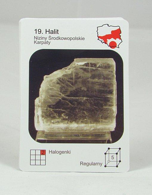 """Gra """"Minerały i kamienie ozdobne Polski"""" - karty."""