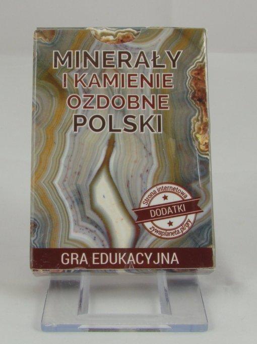 """Gra """"Minerały i kamienie ozdobne Polski"""" - pudełko."""
