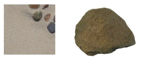 Zdjęcie piasku i piaskowca.