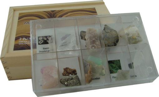 Minerały i kryształy. Zestaw badacza