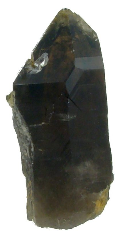 Kryształ kwarcu dymnego - szarej i brązowej odmiany minerału kwarcu.