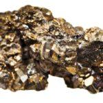 Kryształy minerału pirytu.