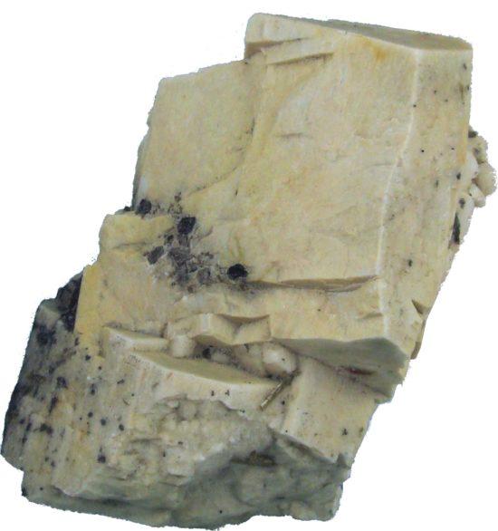Kryształ skalenia - jednego z najważniejszych minerałów skałotwórczych.