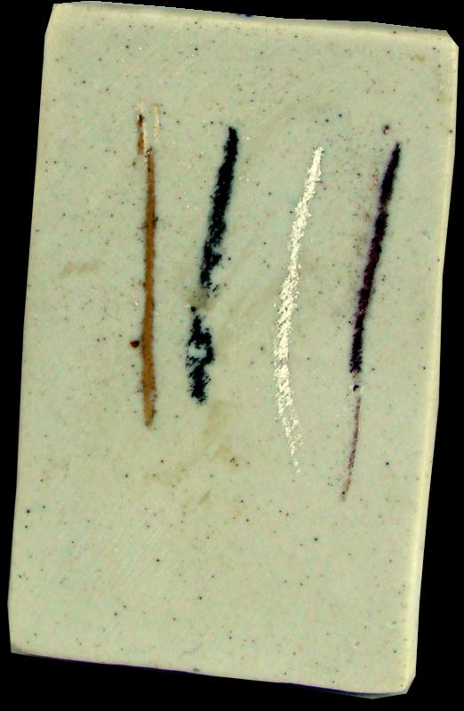 Płytka porcelanowa do badania rysy minerałów.