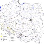 Osady neogenu z węglem brunatnym na powierzchni - mapa Polski.