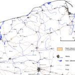 Osady oligocenu z bursztynem na powierzchni na terenie północnej Polski.