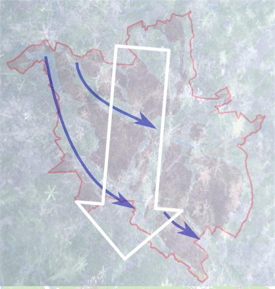 Poznań okołó 24 tysiące lat temu, w trakcie zlodowaceń (faza leszczyńska).