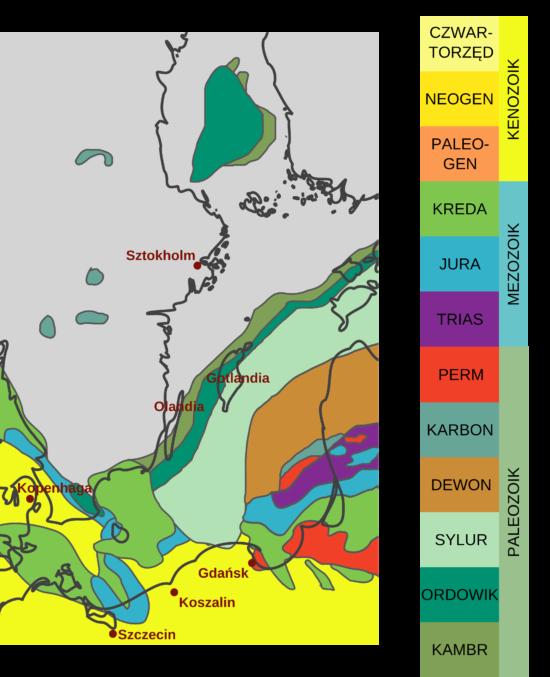 Obszary źródłowe narzutniaków znajdowanych na terenie Polski.